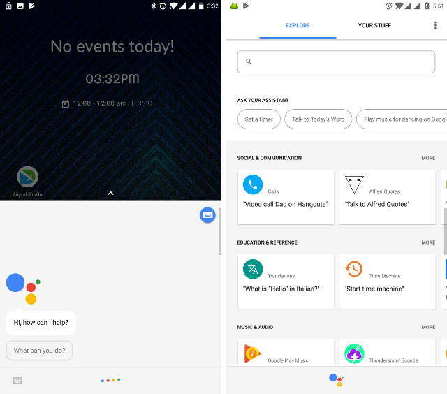 Google Assistant demo