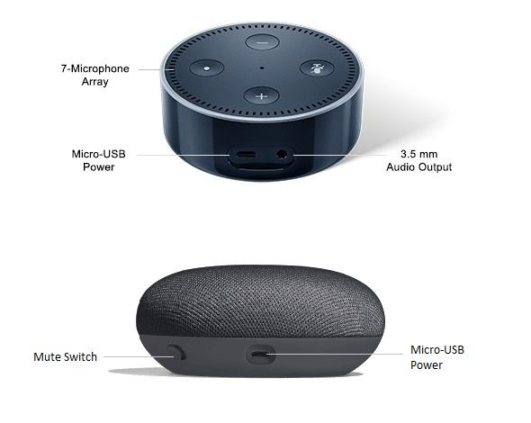 google home mini vs echo dot connectivity