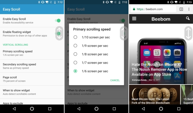 Tired of all the Scrolling? You Can Scroll Automatically on Android