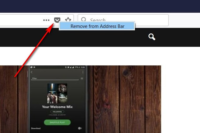 How to Remove Pocket Integration from Firefox Quantum