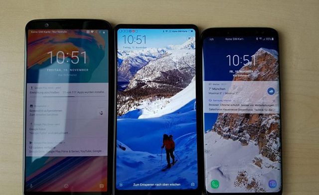 OnePlus 5T vs Galaxy S8 vs Mi Mix 2