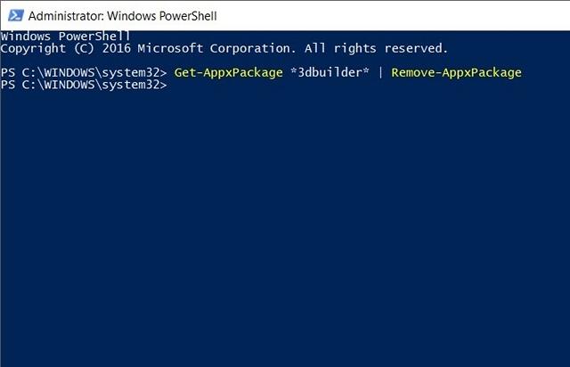 Cách gỡ cài đặt ứng dụng cài sẵn trong Windows 10