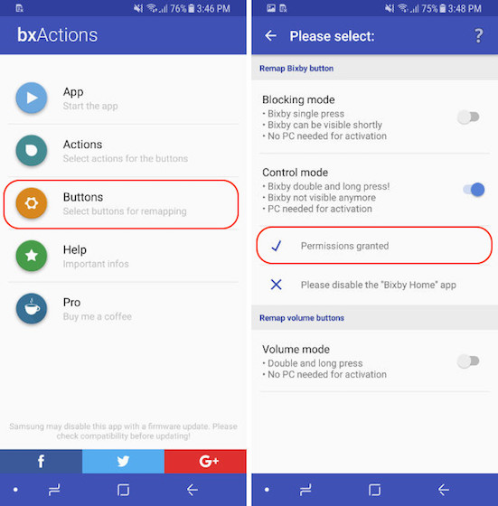 Remap The Bixby Button - Control Mode - Step 7