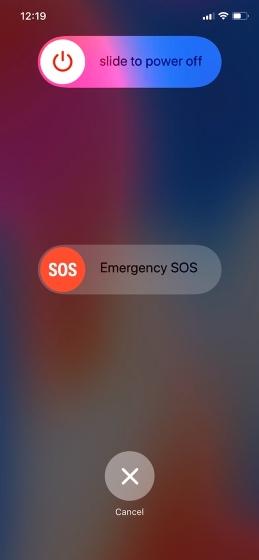 iPhone X Ekranı Kapat