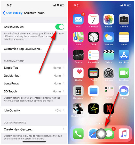 Como adicionar um botão inicial virtual ao iPhone X
