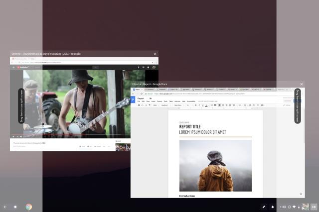 multitasking pixelbook