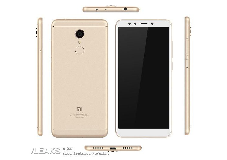 redmi note 5 official render