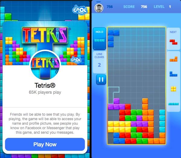 tetris messenger