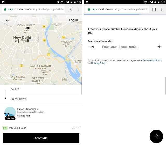 Uber India Introduces Call to Ride, Mobile Web Version And