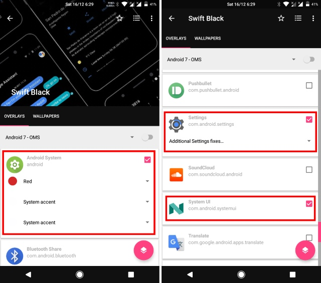 Check Android System Settings System UI