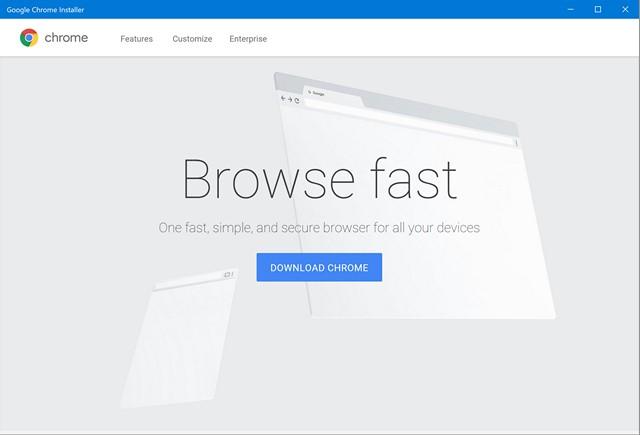 Chrome Installer Windows Store
