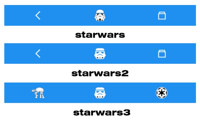 Different Star Wars Navigation Bars
