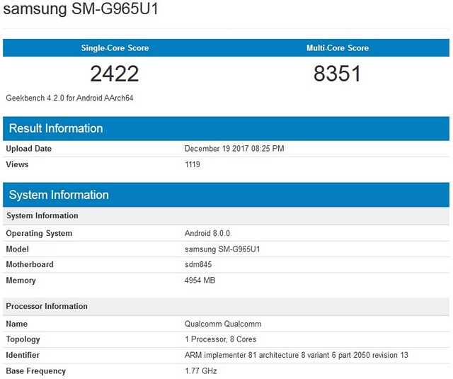 Galaxy S9's Snapdragon 845 Benchmark Scores are Great But Still Far Behind the iPhone X