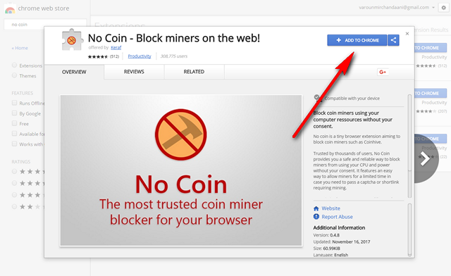 websites mining cryptocurrency from your pc