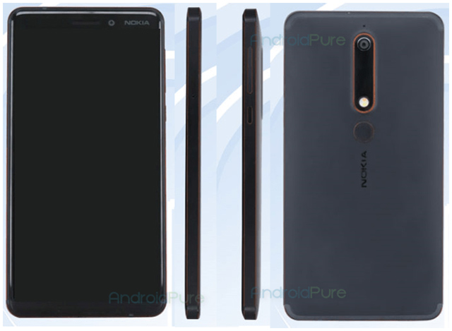 Nokia 6 (2018) TENAA, Courtesy: Android Pure
