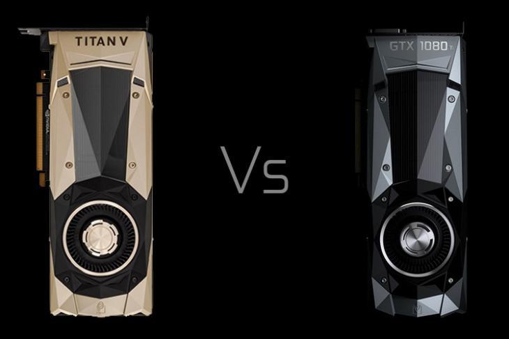 Nvidia Titan V vs GTX 1080 Ti Battle of the Titans