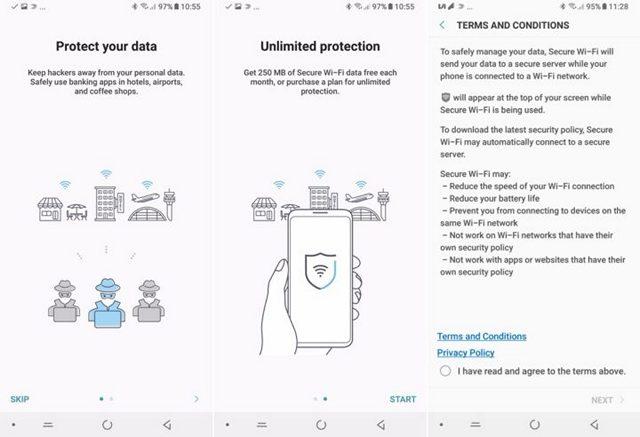 Samsung Secure Wi-Fi VPN Service