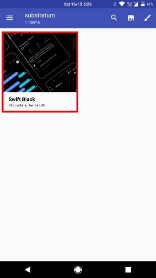 Select Swift Black Theme