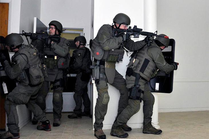 Swatting raid stock
