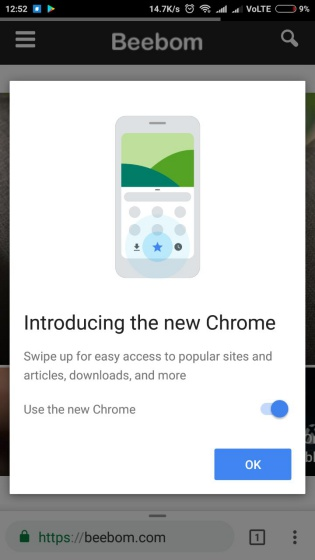 chrome home