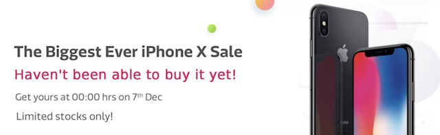 flipkart iPhone X offers