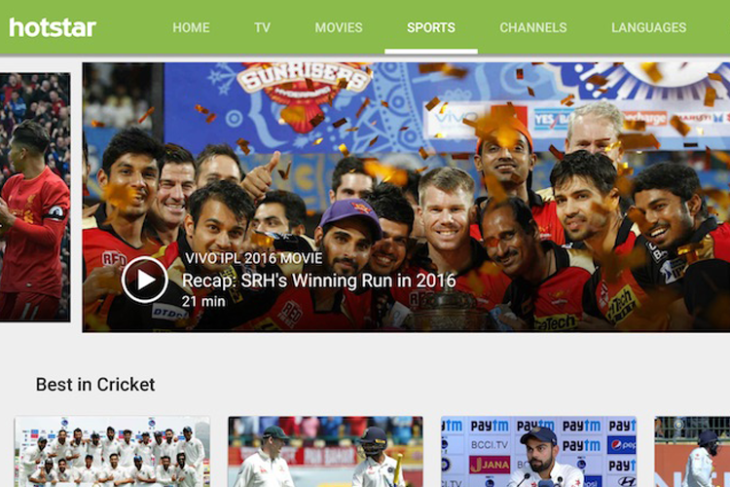 Hotstar is the leading Indian video streaming app