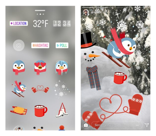 instagram stickers winter