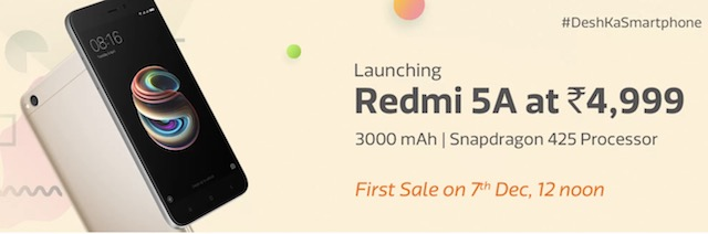 redmi 5A offers