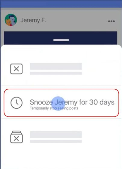 facebook snooze activate