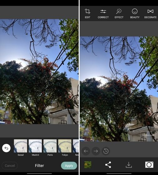 4. Cymera - Best Photo Editing Apps for Android