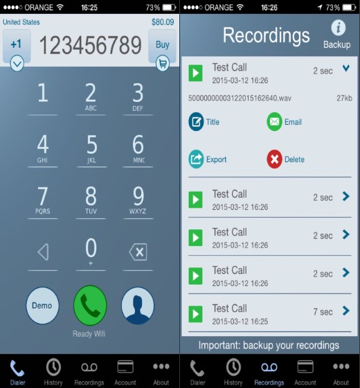 5. Call Recorder int Call