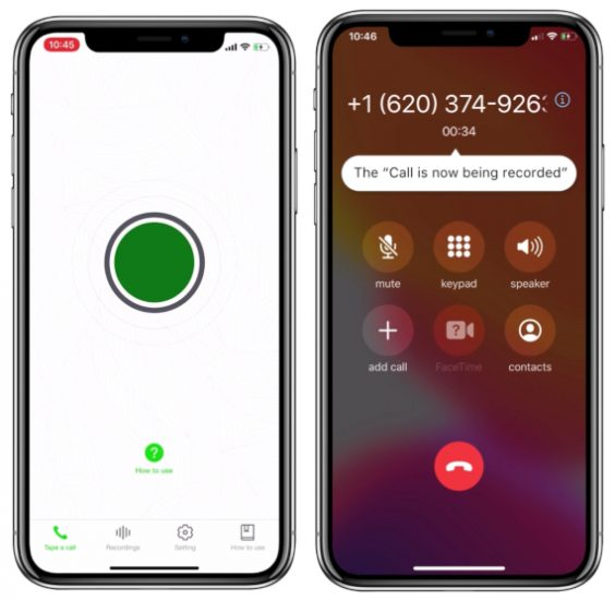 9. Call Recorder for iPhone Calls