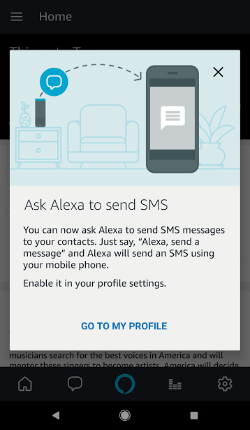 Alexa Text messages