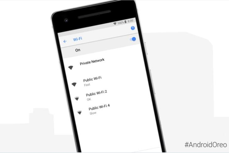 Android Oreo WiFi Network Speed