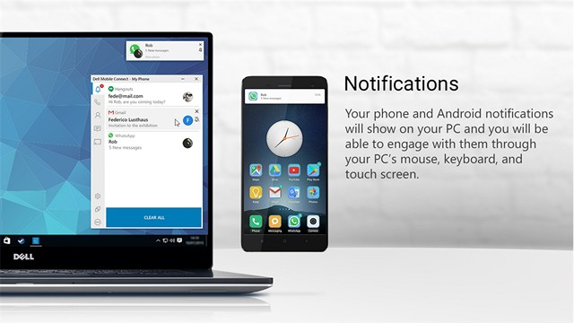 Dell Mobile Connect Brings Your Android and iOS Calls, Messages and Notifications to PCs