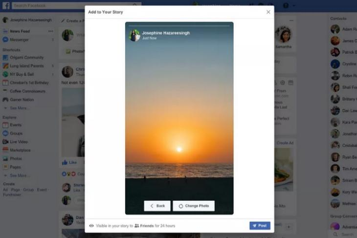 Facebook is Testing the Ability to Create and Upload Stories From Desktops