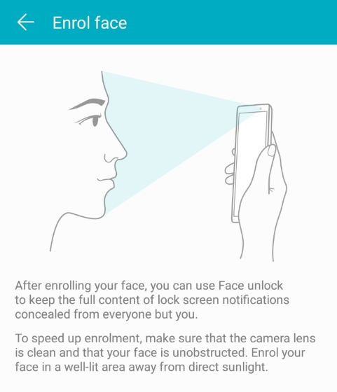 Honor View 10 Face ID
