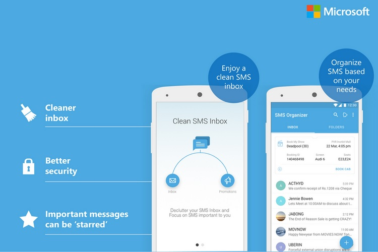Microsoft's SMS Organizer App for Android Can Now Track Your