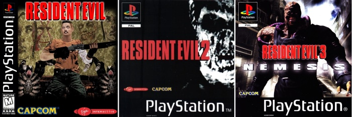 Resident Evil 1 2 3 PlayStation Covers