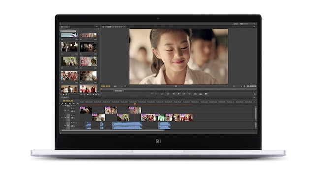 mi notebook air video editing
