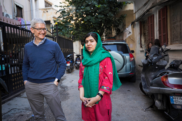 Apple Ties up with Malala Fund to Support Girls and Women Education