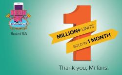 Xiaomi Claims 1Mn+ Redmi 5A Units Sold in Under 1 Month in India (1)