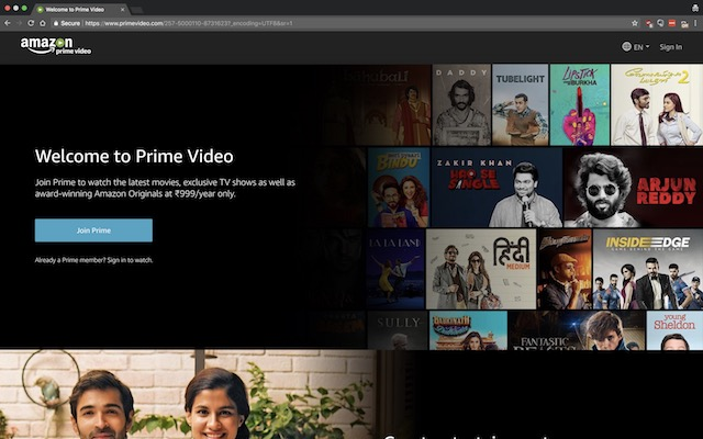 amazon prime for airtel tv