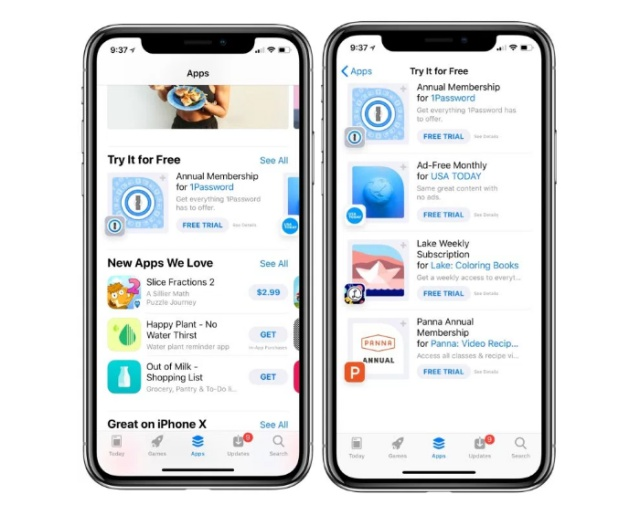 apple app store trial apps