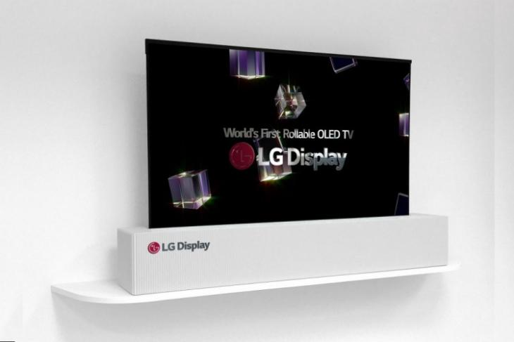 lg display rollable tv