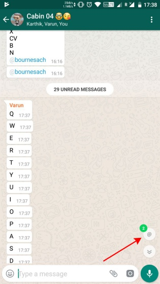 whatsapp mention notification