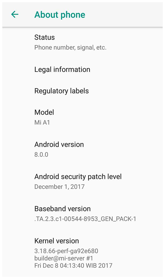 Xiaomi Mi A1 Android Oreo Update is Now Official
