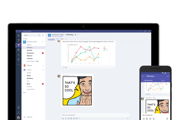 """Microsoft's Workplace App """"Teams"""" Updated With New Features"""