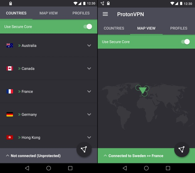 protonvpn screengrabs