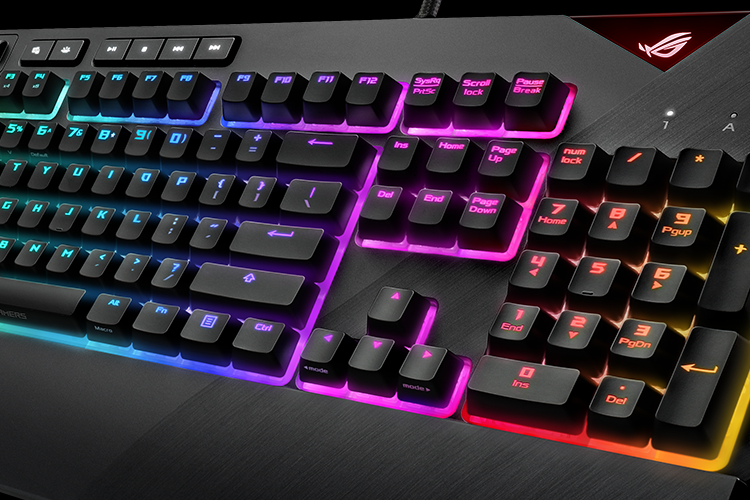 Asus Adds Strix Flare Keyboard, Aura RGB Terminal to Its